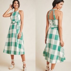 NWT Maeve Anthropologie Greta Gingham Dress 22 W